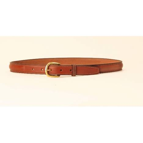 TORY LEATHER 1'' Raised Leather Belt with Brass Buckle