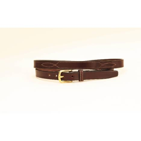 TORY LEATHER 3/4'' Belt with Stitched Pattern