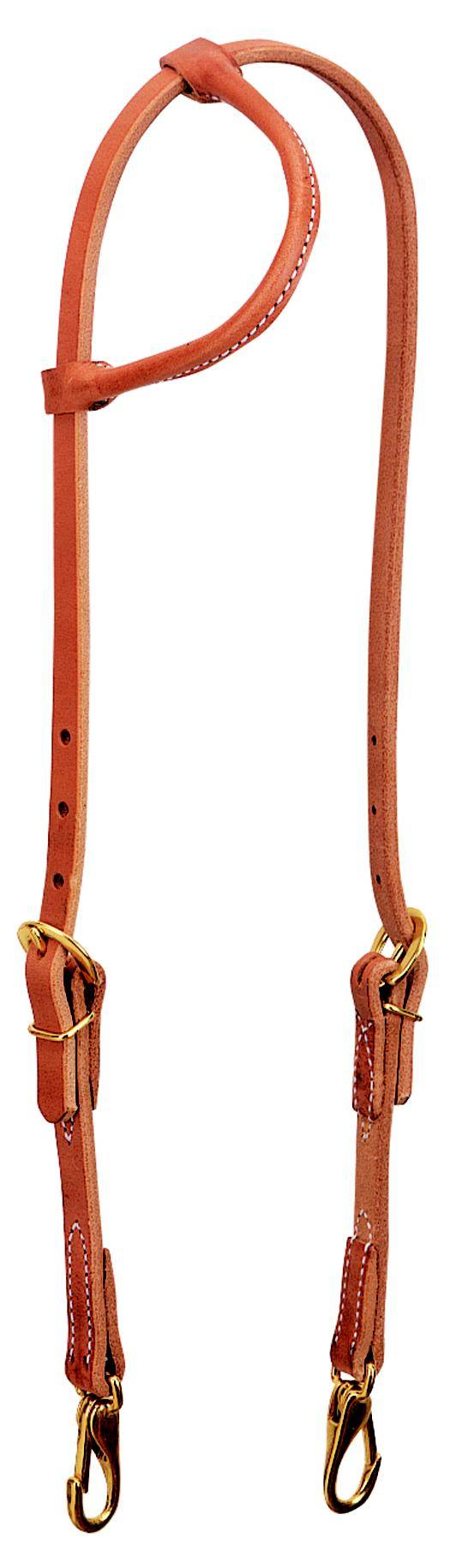Weaver Leather Rolled Sliding Ear Trainer Headstall