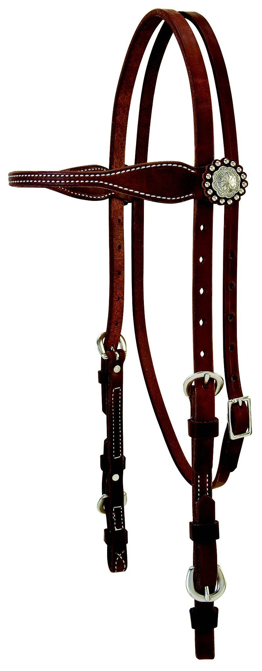 Weaver Leather Protack Oiled Browband Headstall