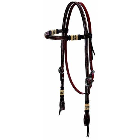 Weaver Basketweave Browband Headstall with Rawhide