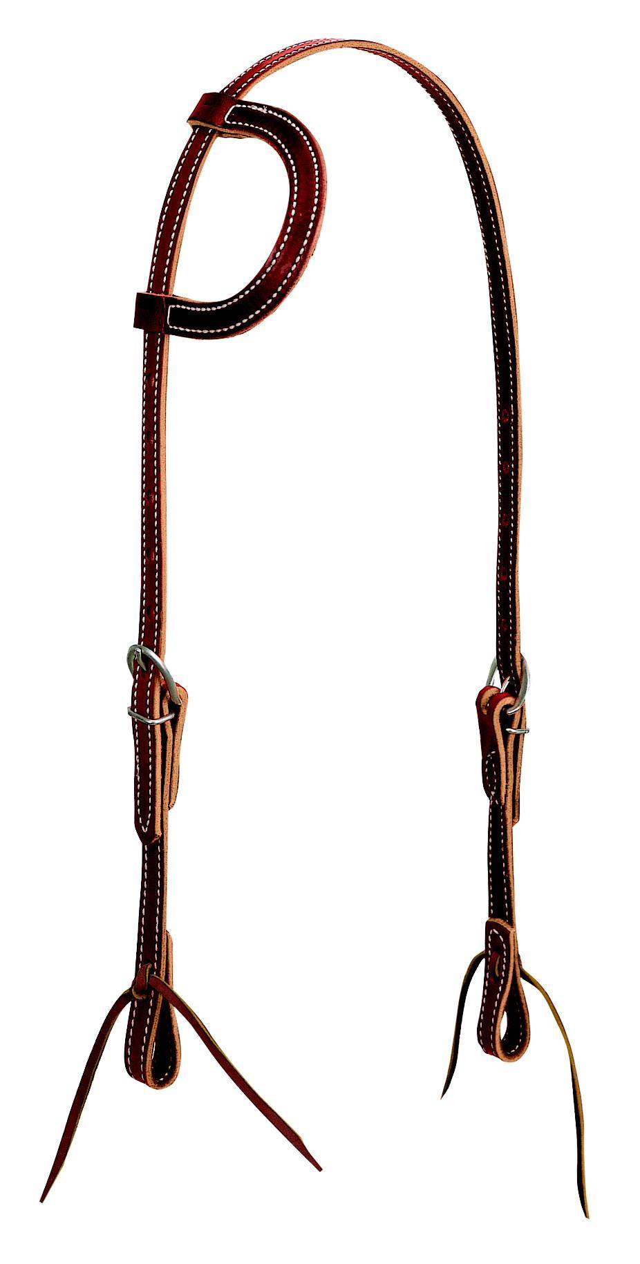 Weaver Latigo Leather Flat Sliding Ear Headstall