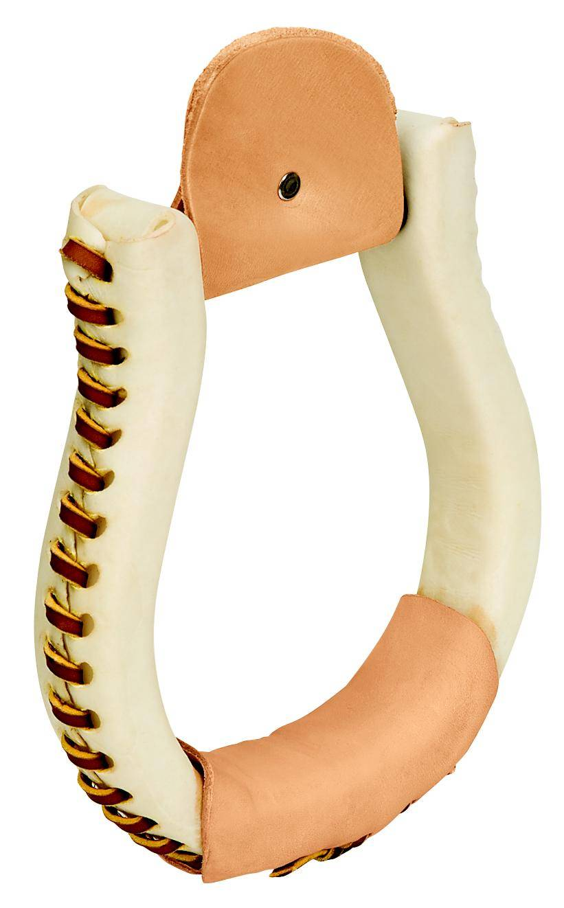 Weaver Rawhide Covered Oxbow Stirrups