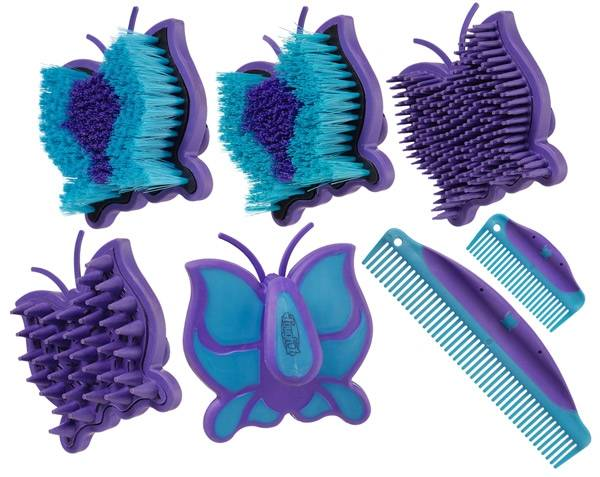 Butterfly Brush & Comb Collection - 6 Piece