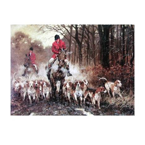 Leaving Covert (Fox Hunting) Blank Greeting Cards - 6 Pack