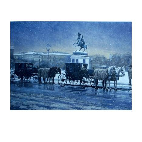 Snow in Vienna Blank Greeting Cards - 6 Pack