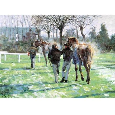 Horses Away (Horse Racing) Blank Greeting Cards - 6 Pack