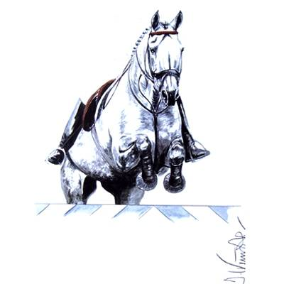 Monaco, Show Jumper Art Print by Jan Kunster