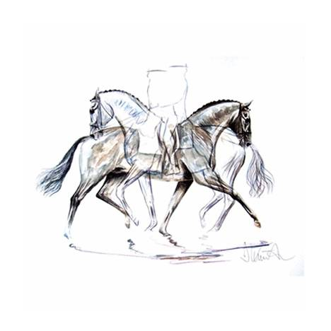 Pas de Deux, Dressage Art Print by Jan Kunster