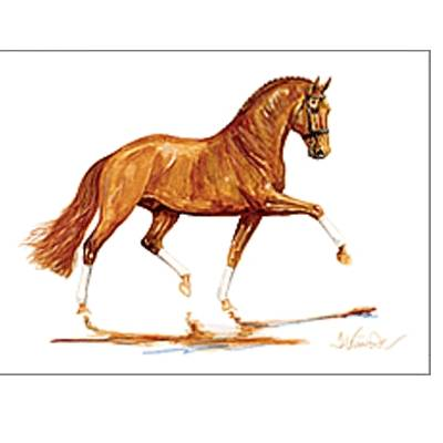 Indian Summer, Dressage Art Print by Jan Kunster