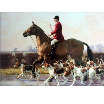 Fox and Fox Hunting - Huntsman & Hounds (Fox Hunting) Blank Greeting Cards - 6 Pack
