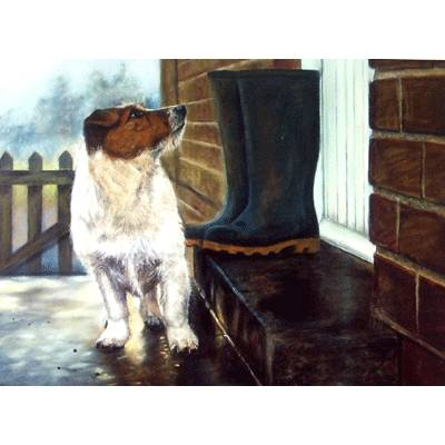 Hurry Up (Jack Russell) Blank Greeting Cards - 6 Pack
