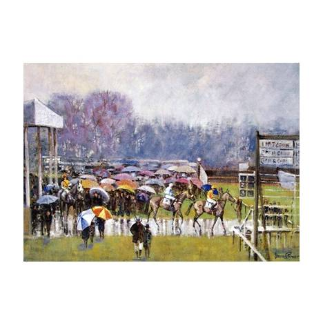 Cottenham in the Rain Blank Greeting Cards - 6 Pack
