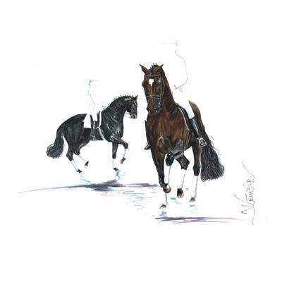 Karat, Dressage Art Print by Jan Kunster