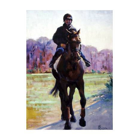 Walking Out (Horse Racing) Blank Greeting Cards - 6 Pack