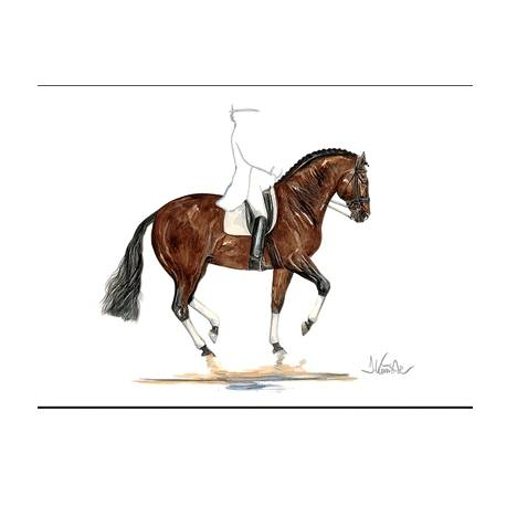 Belle Epoque, Dressage Art Print by Jan Kunster