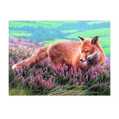 Fox in Heather Blank Greeting Cards - 6 Pack