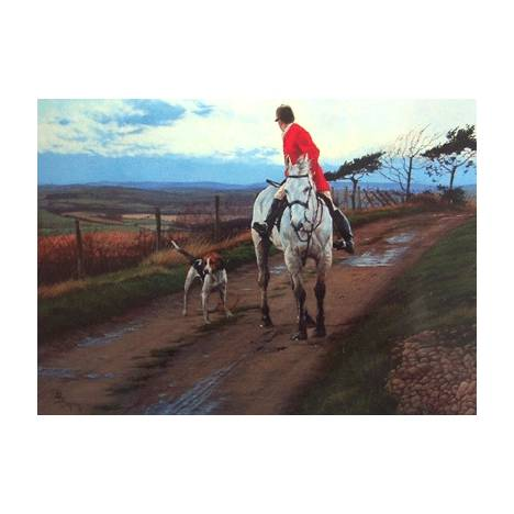 A Last Look Back (Fox Hunting) Blank Greeting Cards - 6 Pack