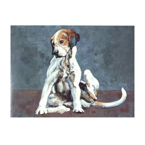 Turning Em Over (Foxhound) Blank Greeting Cards - 6 Pack