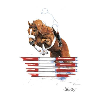 Parsifal, Show Jumper Art Print by Jan Kunster