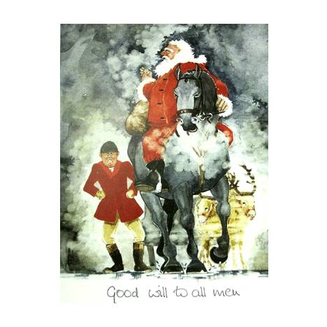 Good Will to all Men Greeting Cards - Pack of 6