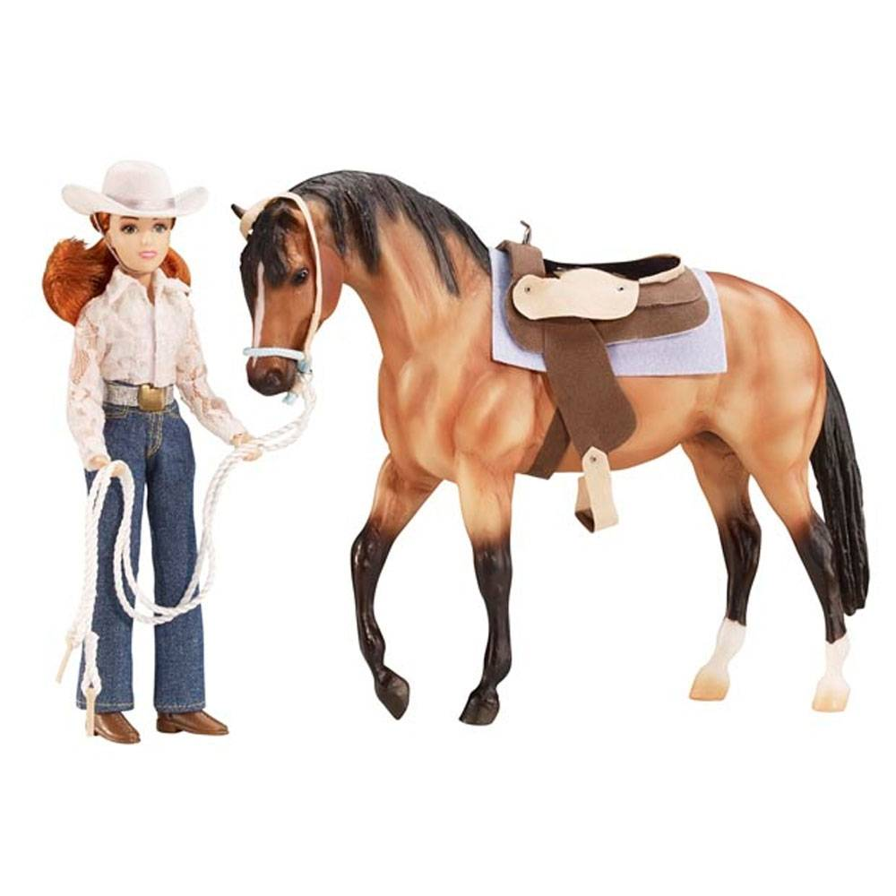 Breyer Traditional Lets Go Riding Western Set