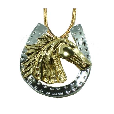 Exselle Wind Blown Horseshoe Pendant