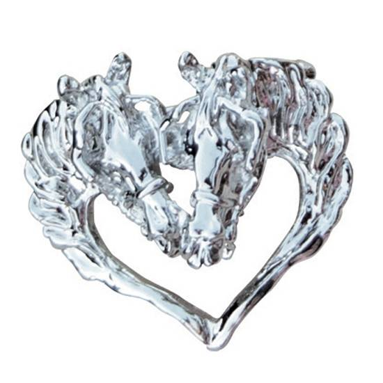 Beverely Zimmer Horse Head Heart Pendant