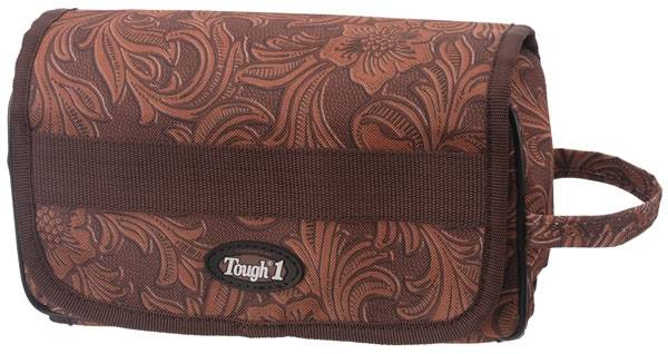 Tough-1 Roll Up Accessory Bag - Tooled Leather Print