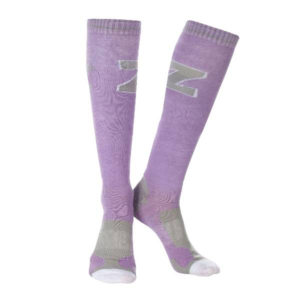 Outlet - Horze Jayne Sporty Knee Socks - Adult, 6 - 7.5, Ash Grey/Dark Slate Grey