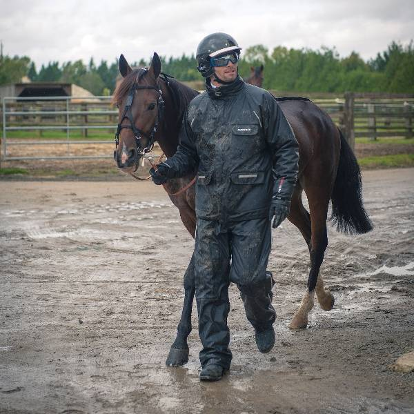 HorZe Jacket and Pants Rain Set with Quilted Lining