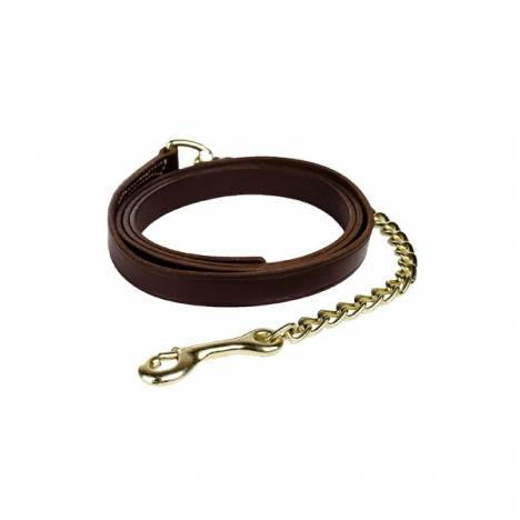 Horze Leather Lead Shank-Single Chain