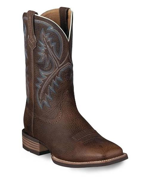 Ariat Mens Oiled Rowdy Quickdraw Western Boots