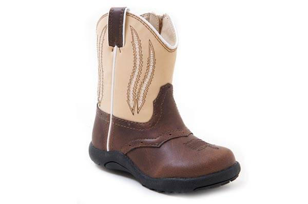 Roper Infant Faux Leather Chunk Cowboy Boots
