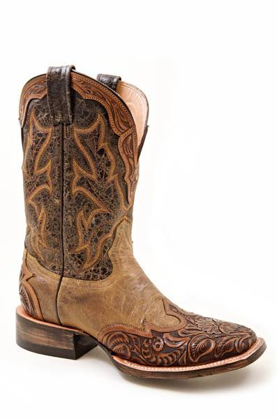 Stetson Ladies Hand Tooled Cowgirl Boots