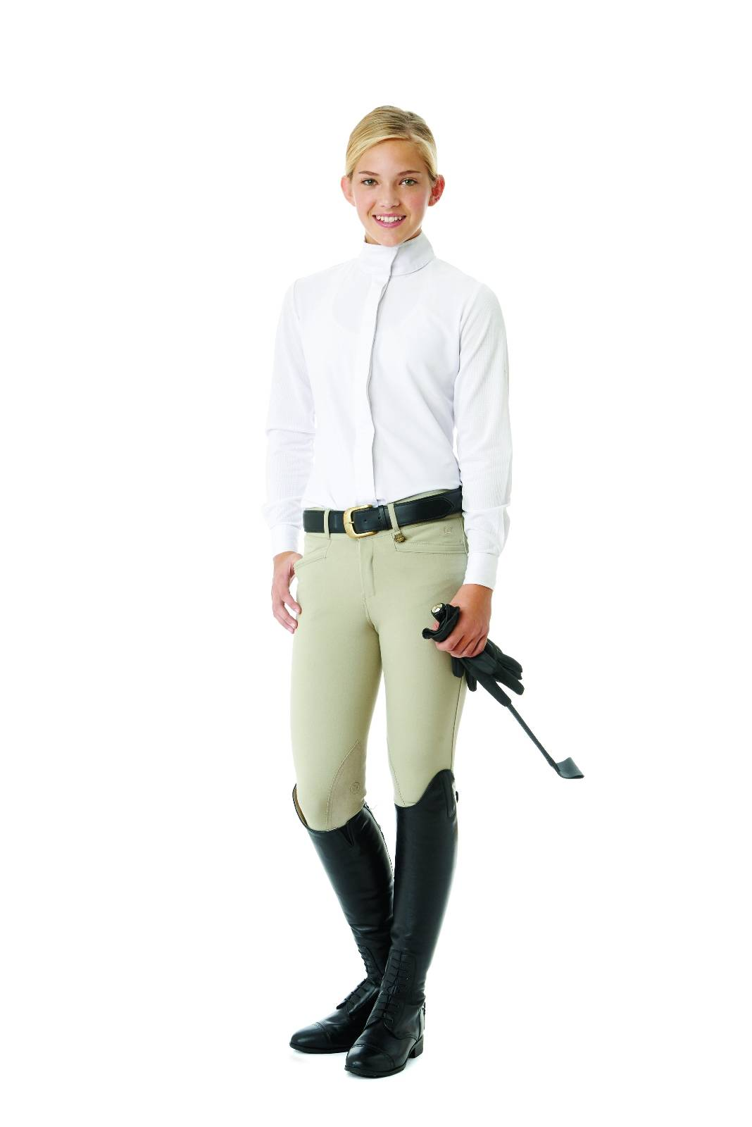 Ovation Teen EuroWeave DX Celebrity Breeches - Knee Patch