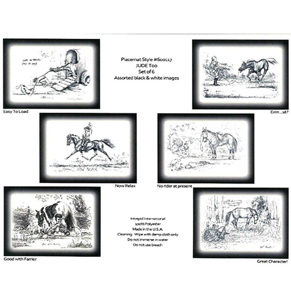 Jude Too Placemats-B&W/6Pk