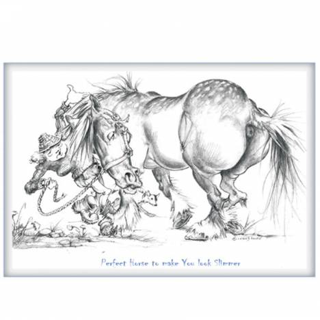 Perfect Horse To Make You Look Slimmer Blank Greeting Cards - 6 Pack