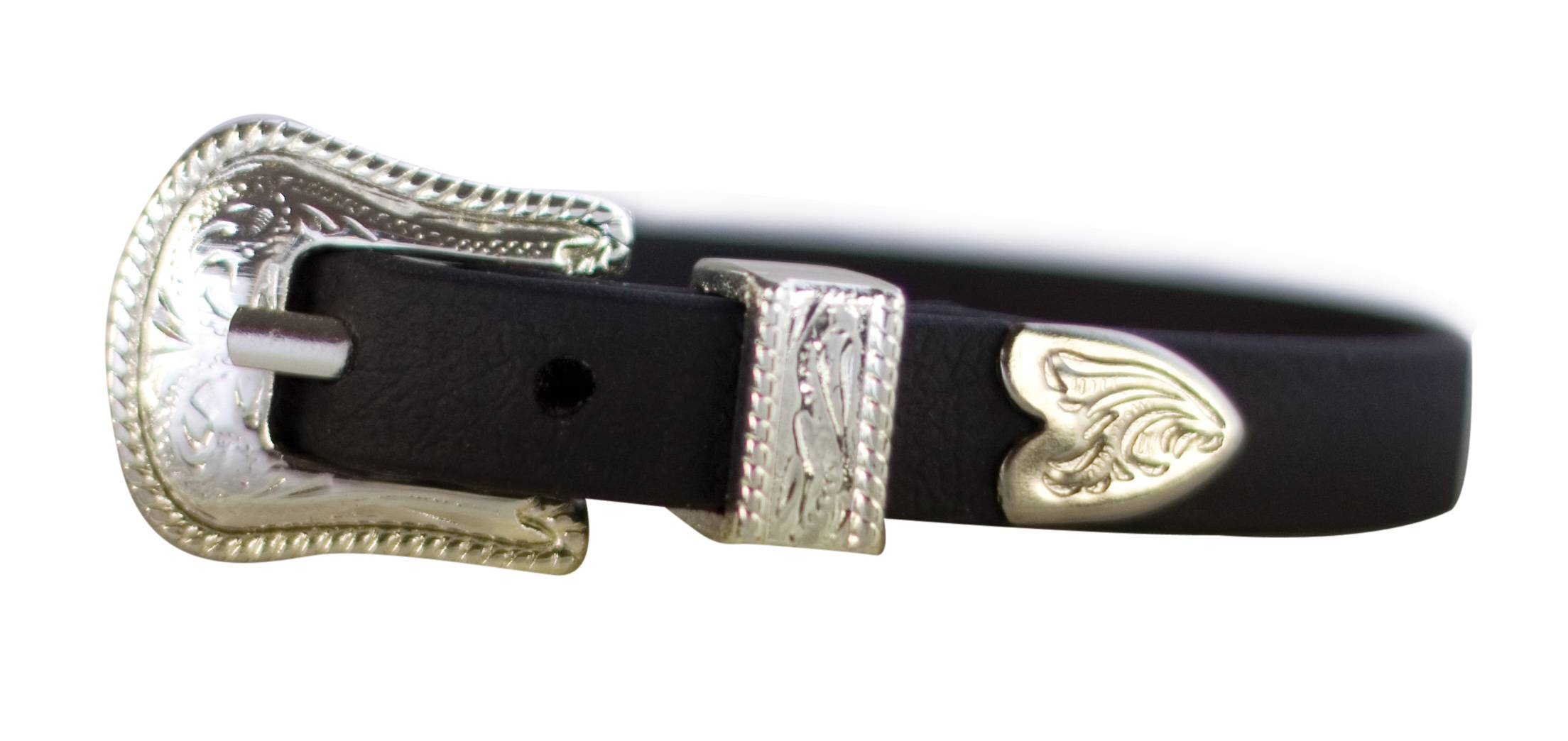 Perri's Leather Bracelet with Silver Buckle