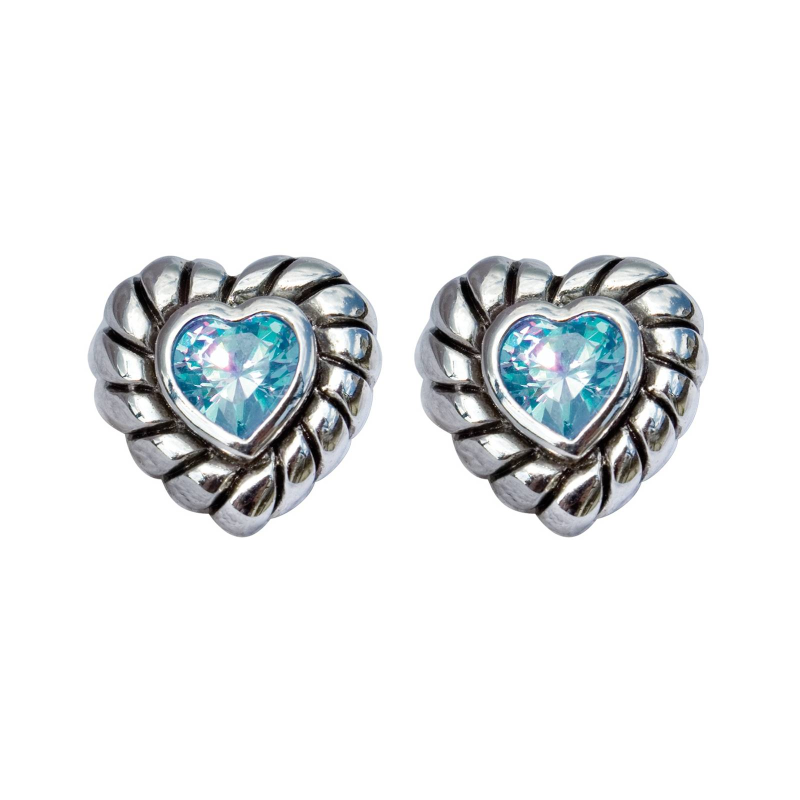 Perris Crystal Heart Post Earrings