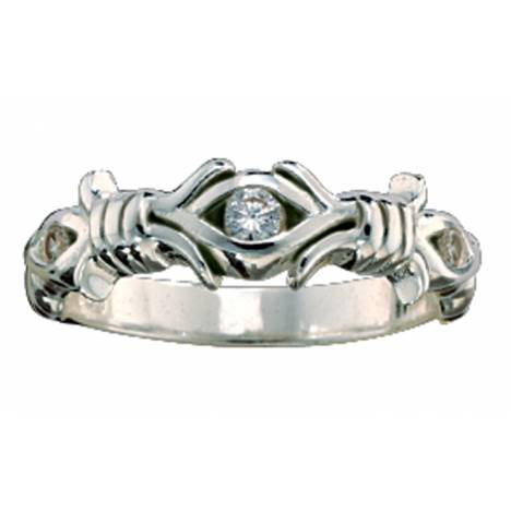 Montana Silversmiths Barbed Wire Solitaire Ring