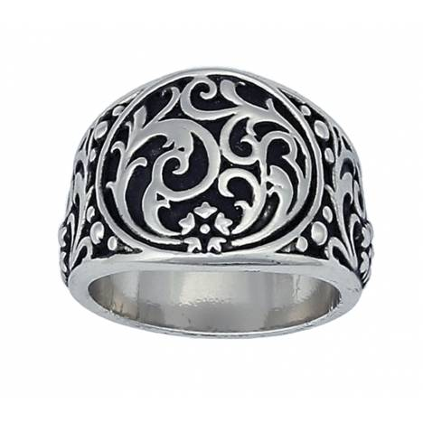 Montana Silversmiths Western Deco Silver Filigree Ring