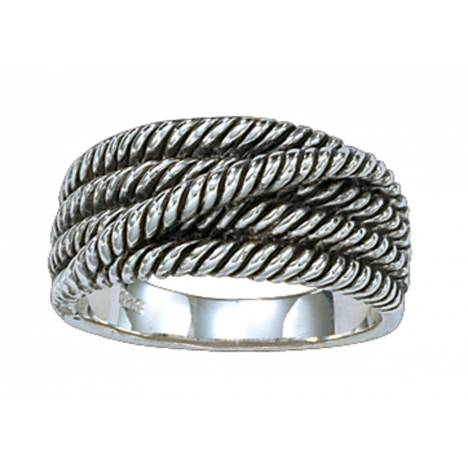 Montana Silversmiths Cowgirl Club Twisted Rope Band Ring