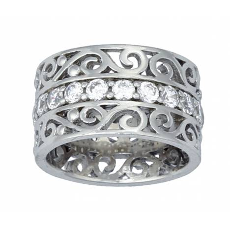 Montana Silversmiths Wide Filigree Band Ring
