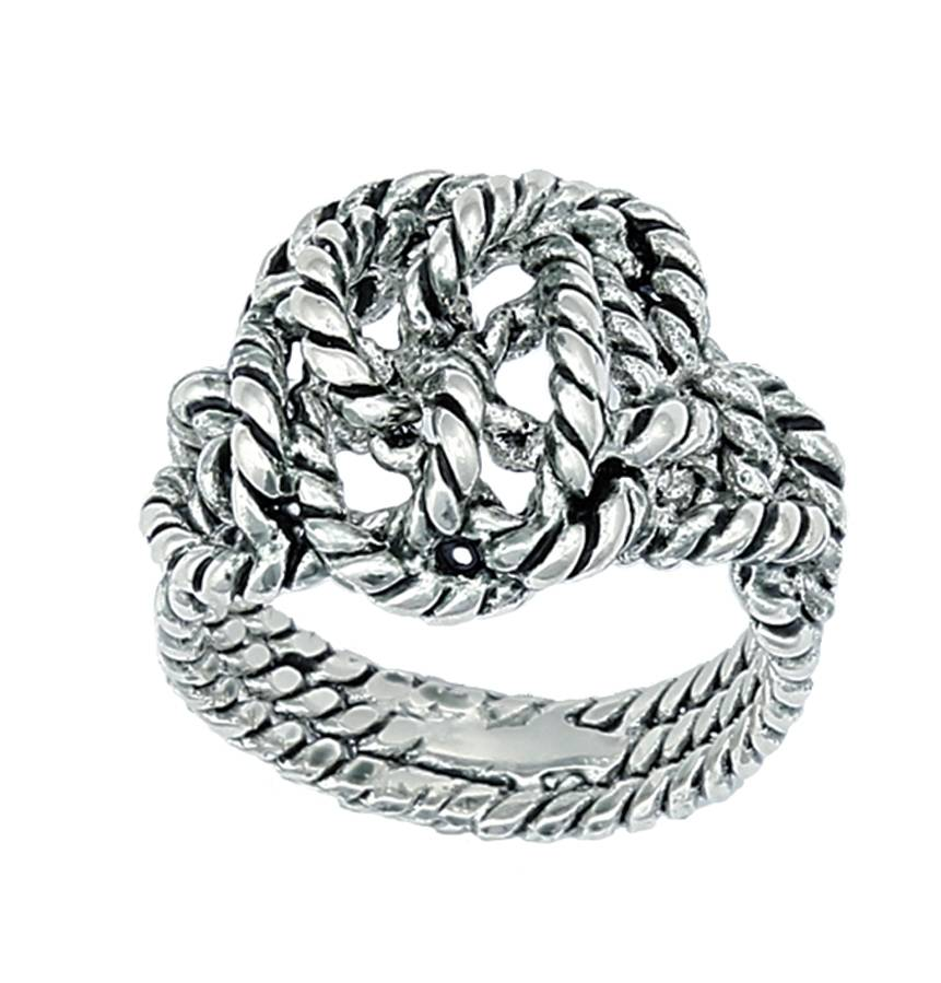 Montana Silversmiths Cowgirl Bling Knotted Rope Ring
