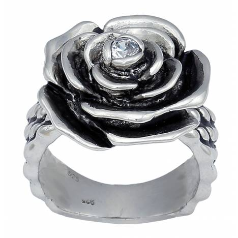 Montana Silversmiths Antiqued Silver Rose-Arie Ring