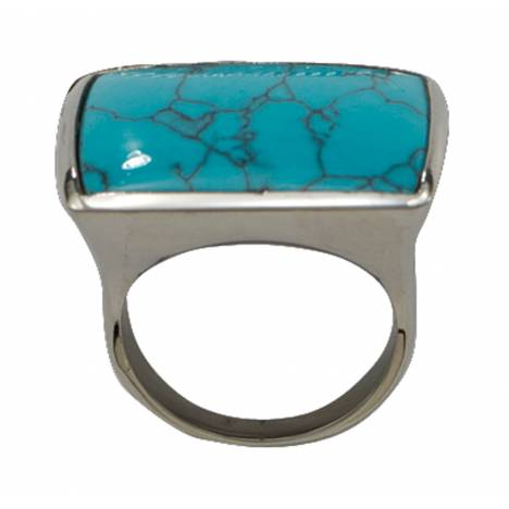 Montana Silversmiths Blue Earth Turquoise Silver Ring