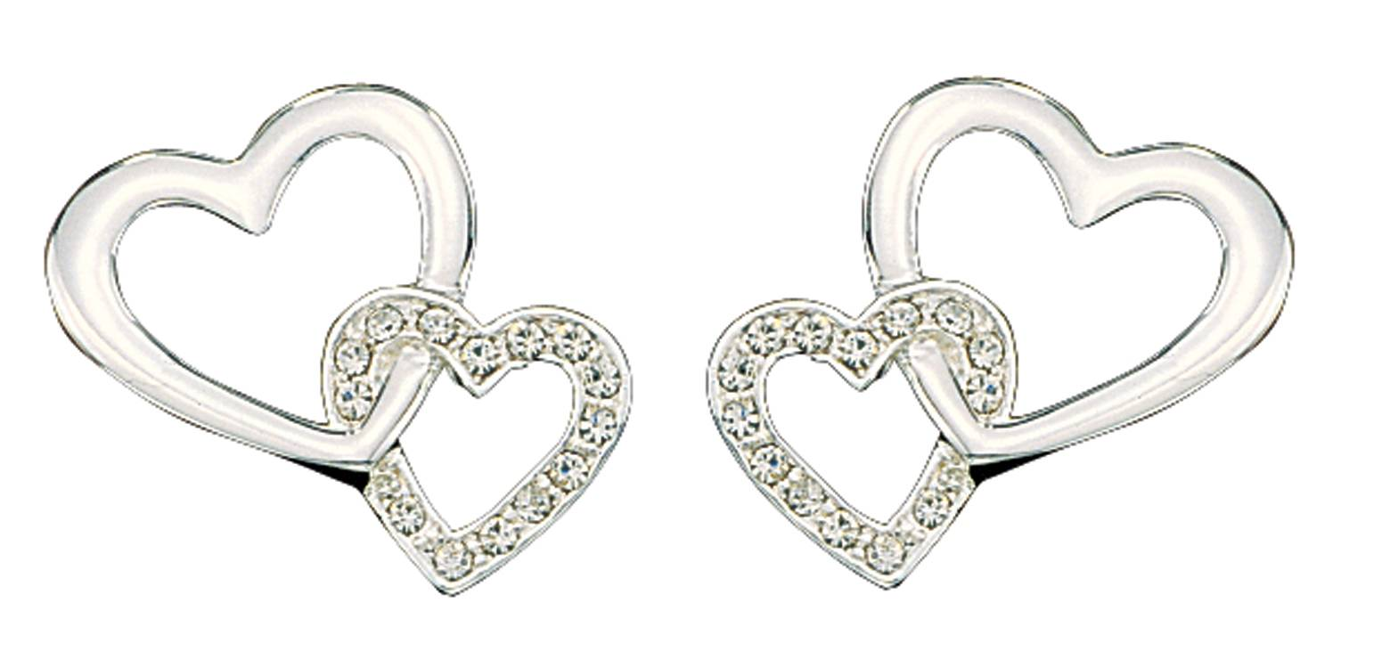 Montana Silversmiths Hanging Crystal Heart Earrings