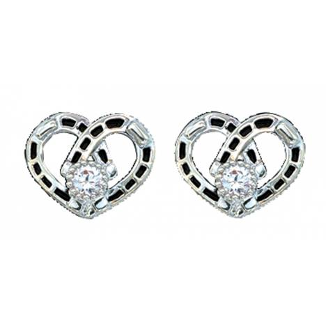 Montana Silversmiths Horseshoe Heart Post Earrings