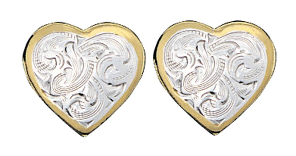 Montana Silversmiths Classic Montana Heart Earrings